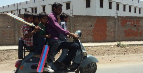1 Family on Motorcycle